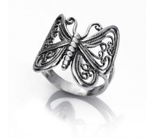 33e4596ff192 Anillo Mariposa Labrado Anillo Mariposa Labrado. Anillo Mariposa Labrado en  Plata de Ley 925 ...