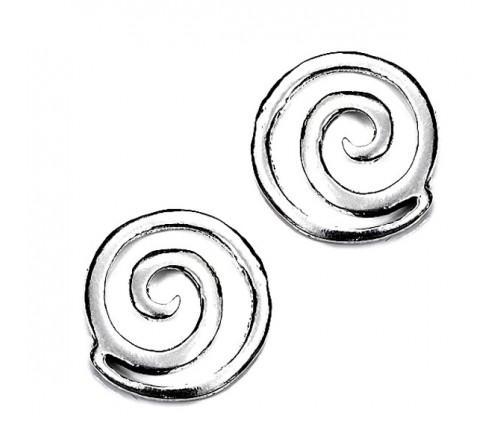 Pendientes Espiral Grande Plata