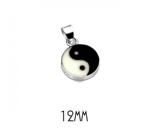 Colgante Yin Yang Mediano Plata