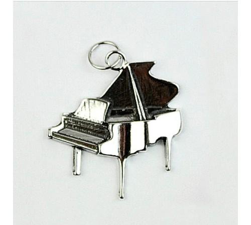 Colgante Piano Pequeño Plata