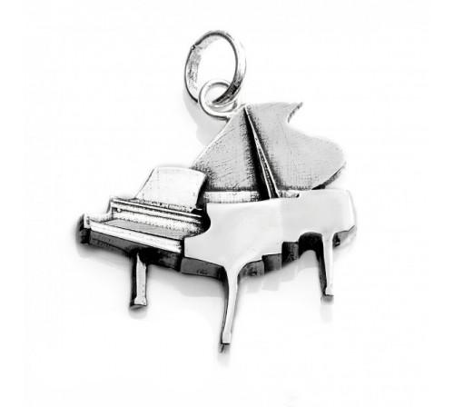 Colgante Musical Piano grande Plata